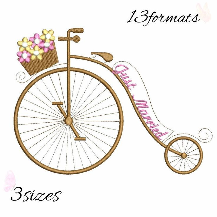 Just married embroidery machine designs, bicycle wedding pattern,heart,merried by WeddingdesignStore on Etsy