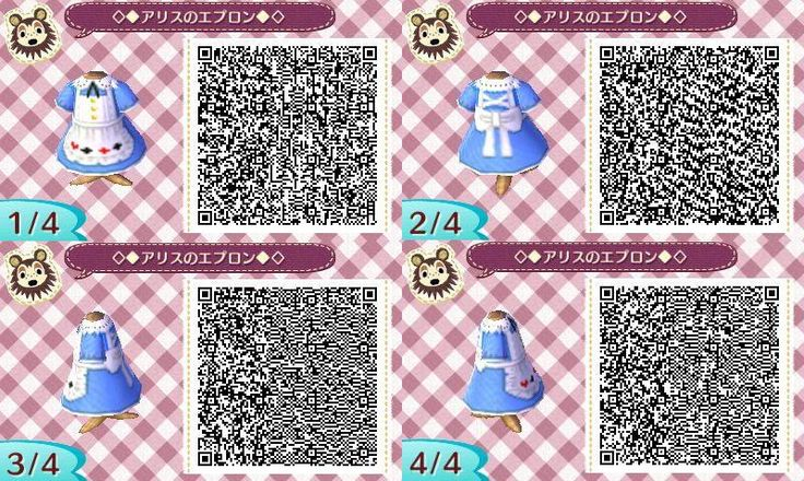 Alice in Wonderland Dress Animal Crossing New Leaf Qr Code
