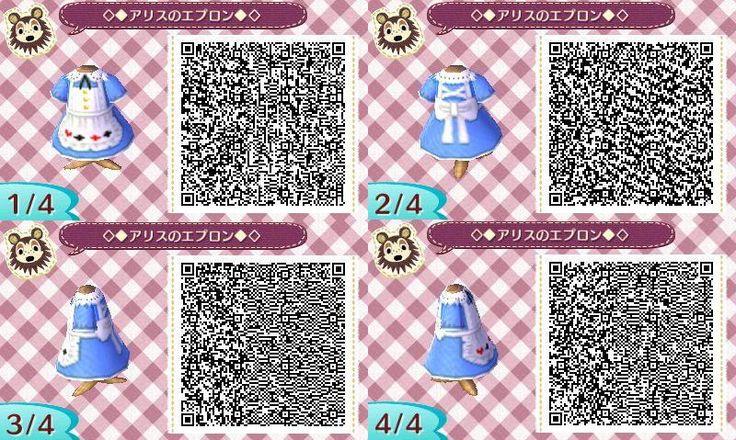 Alice in Wonderland Dress Animal Crossing New Leaf Qr Code