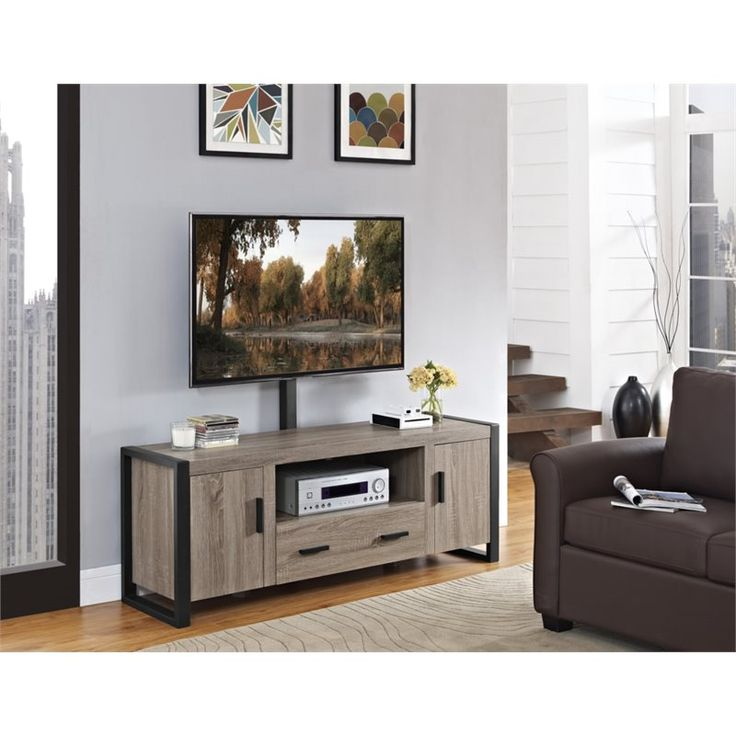 """60"""" Urban Blend TV Stand with Mount in Driftwood by Walker Edison"""