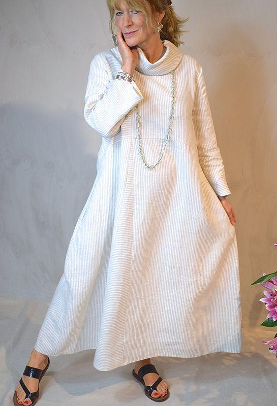 Rome dress £325, linen.