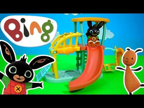 Bing's Playground Toy Unboxing BBC Cbeebies Bing TV Show | Kids Play O'clock - YouTube