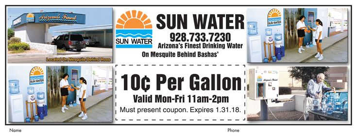 Fill up your #water bottles for ONLY 10 cents a gallon at @SunWaterCompanyLLC with this month's coupon.   #adspay #water #filtered #savemoney #monthlydeal #coupon #drinkingwater #clear #fresh #local #lhc