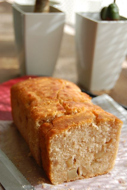 玄米粉のアップルシナモンパウンドケーキ