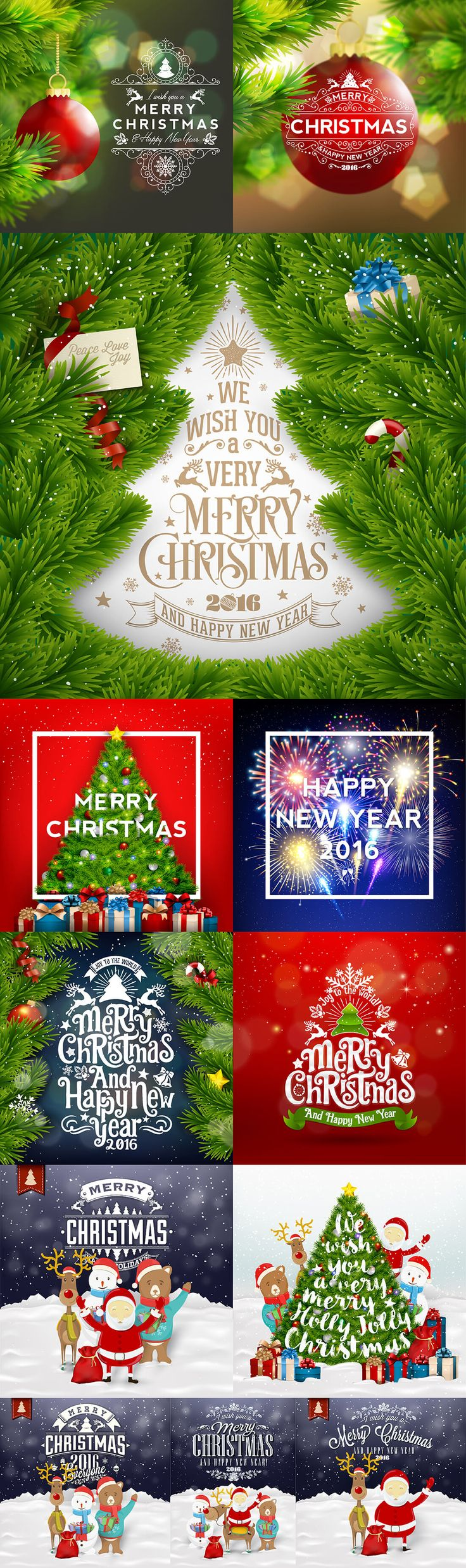 100+ Premium Christmas and New Year Vectors - only $15! - MightyDeals