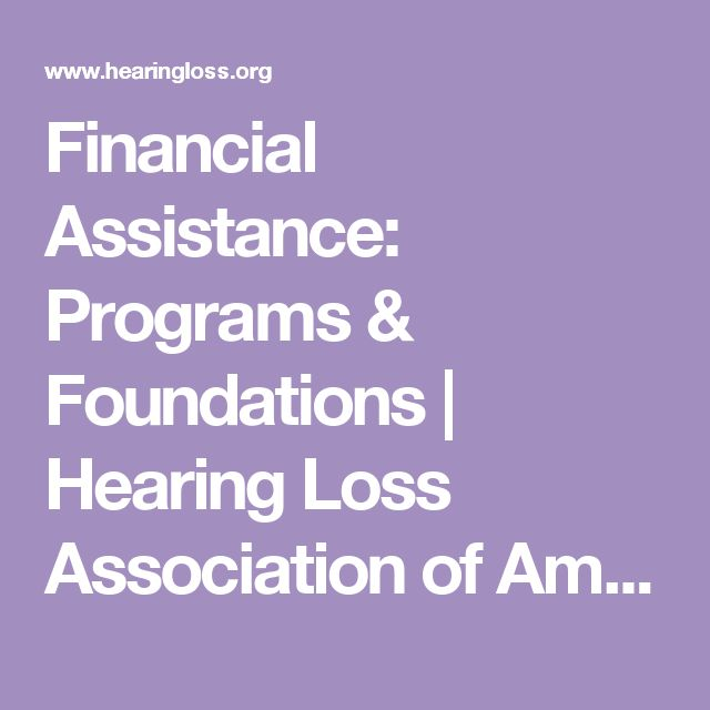 Financial Assistance: Programs & Foundations | Hearing Loss Association of America