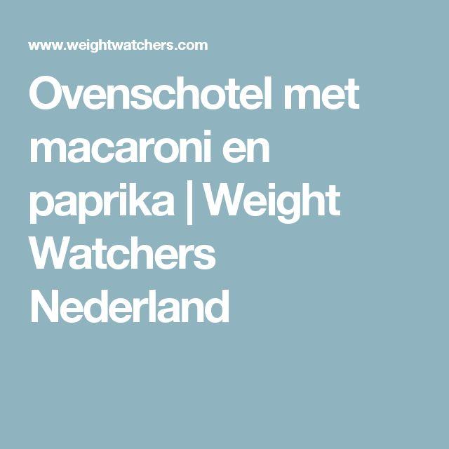 Ovenschotel met macaroni en paprika   Weight Watchers Nederland