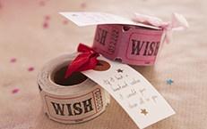 """100 Pink """"Wish"""" Tickets"""