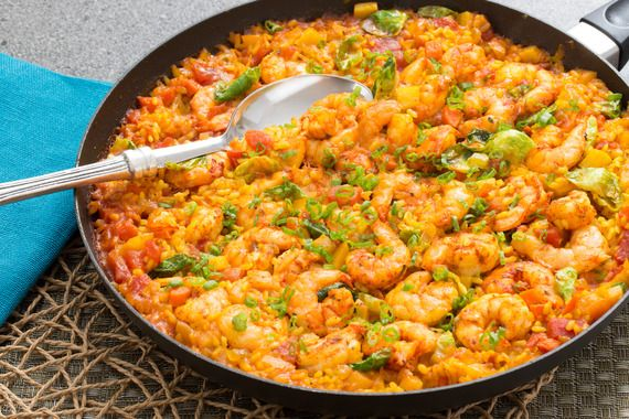 Paella-Style Rice with Shrimp. Visit http://www.blueapron.com/ to receive the ingredients.