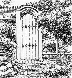 Garden Gate Coloring Pages