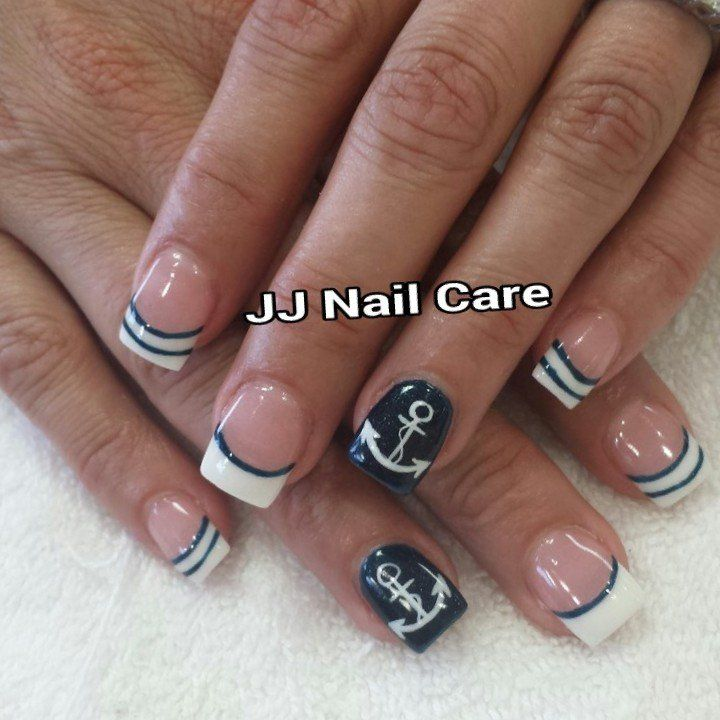 The 25 best anchor nails ideas on pinterest nautical nails jj nail care san jose ca united states anchor nail design prinsesfo Gallery