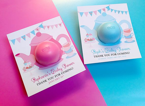 Tea Party Baby Shower EOS balm Favors    by DianaMariaStudio