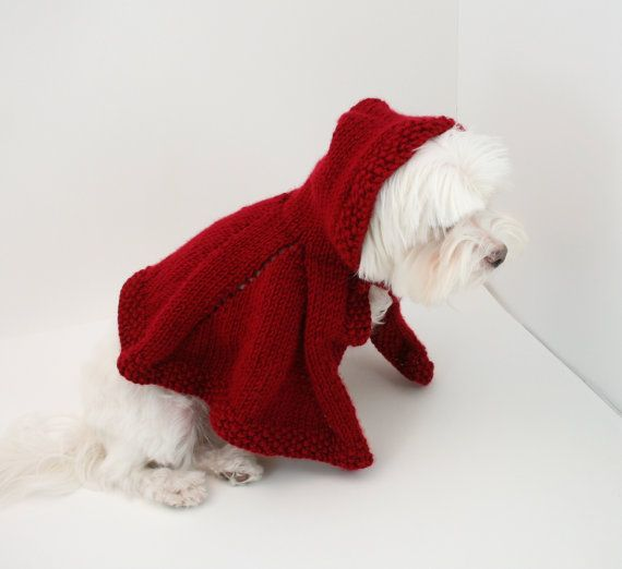 DIGITAL PATTERN:Knit Dog Cape PatternLittle Red by ...