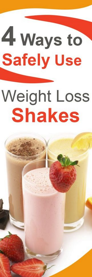 4 Ways to Safely Use Weight Loss Shakes