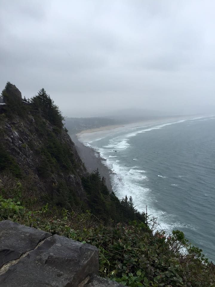 Florida is so flat it hurts so visiting family in Oregon and looking down on the coast (Manzanita beach) for the first time was an incredible sight to see. (2015) [486x648]