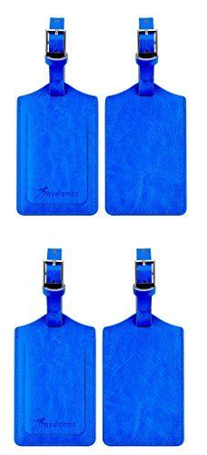 New Trending Luggage: Travelambo Genuine Leather Luggage Bag Tags (blue 4 pcs set). Travelambo Genuine Leather Luggage Bag Tags (blue 4 pcs set)   Special Offer: $13.99      211 Reviews Made from high quality genuine leather, this luggage tag has been reinforced in all the possible ways to make it strong and sturdy. The strap has been extended to make it easier to attach...