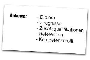 Anlagenverzeichnis: Welche Anlagen gehören in die Bewerbung?