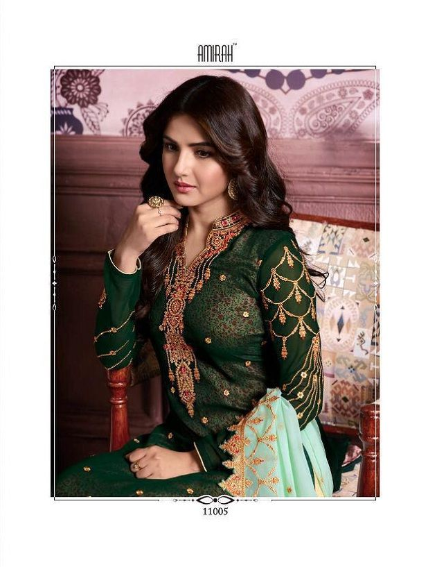 dd85ea9b72 Amirah Vol 16 Geargette Heavy Embroidery with daimond hand work suits 11005