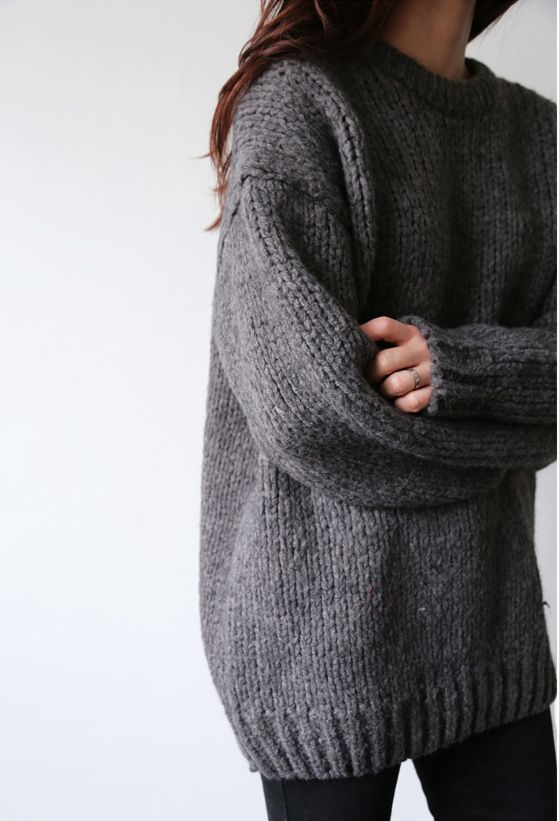 Dear StitchFix Stylist - The perfect weekend sweater; thick knit and oversized.