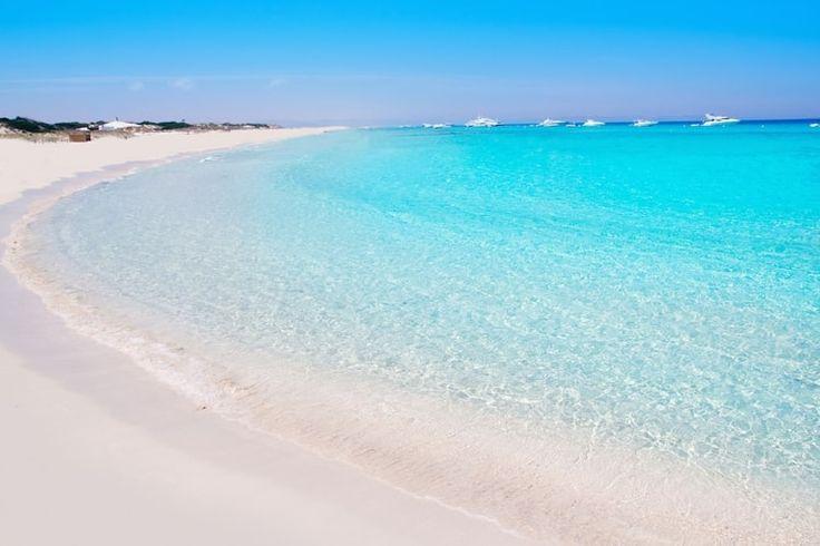 La plage de Ses Illetes sur l'île de Formentera