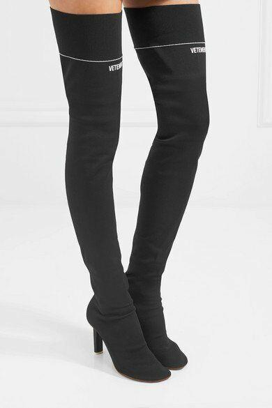 a2ce84061b eBay #Sponsored VETEMENT Lighter Stretch Thigh High Jersey Black Sock Boot  Cigarette Heel 8/39