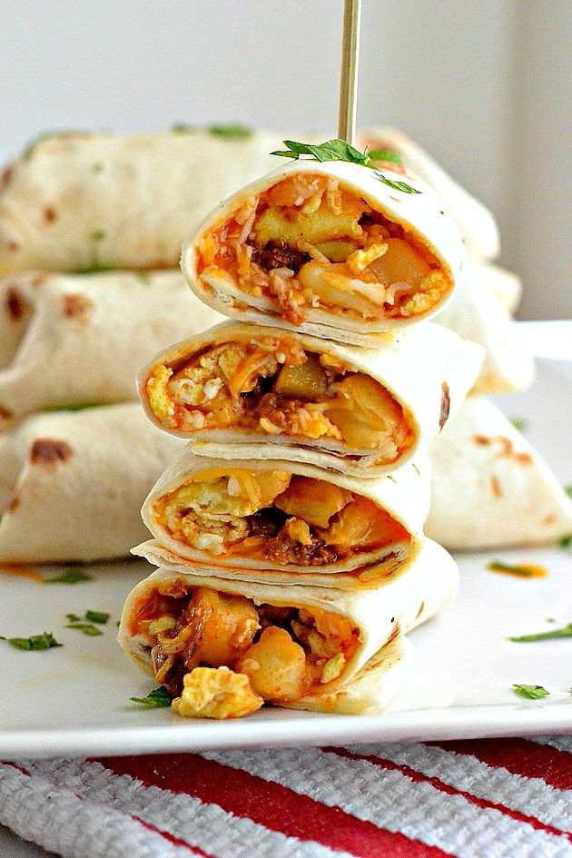 Try these Mini Breakfast Burritos for a delicious spin on your usual breakfast routine; they freeze perfectly for a quick breakfast on the go!