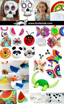 Huge list of crafts your little ones can make with paper plates, these would make great rainy day activities