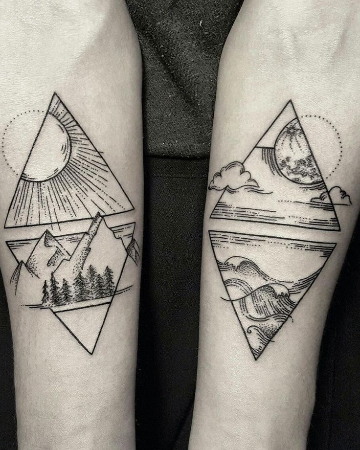687 best hipster tattoos images on pinterest tattoo for Ocean tattoos black and white