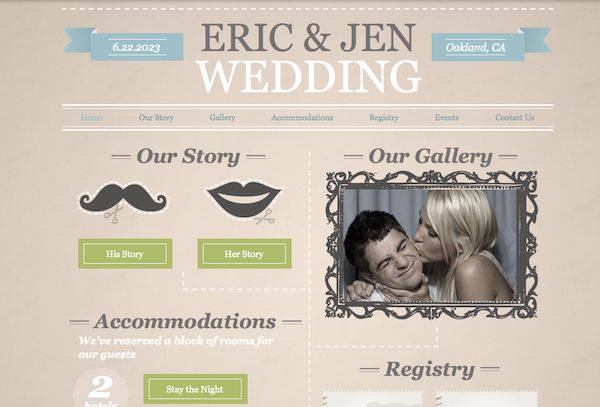 Amazing Wedding Website Examples - http://www.ikuzowedding.com/amazing-wedding-website-examples/
