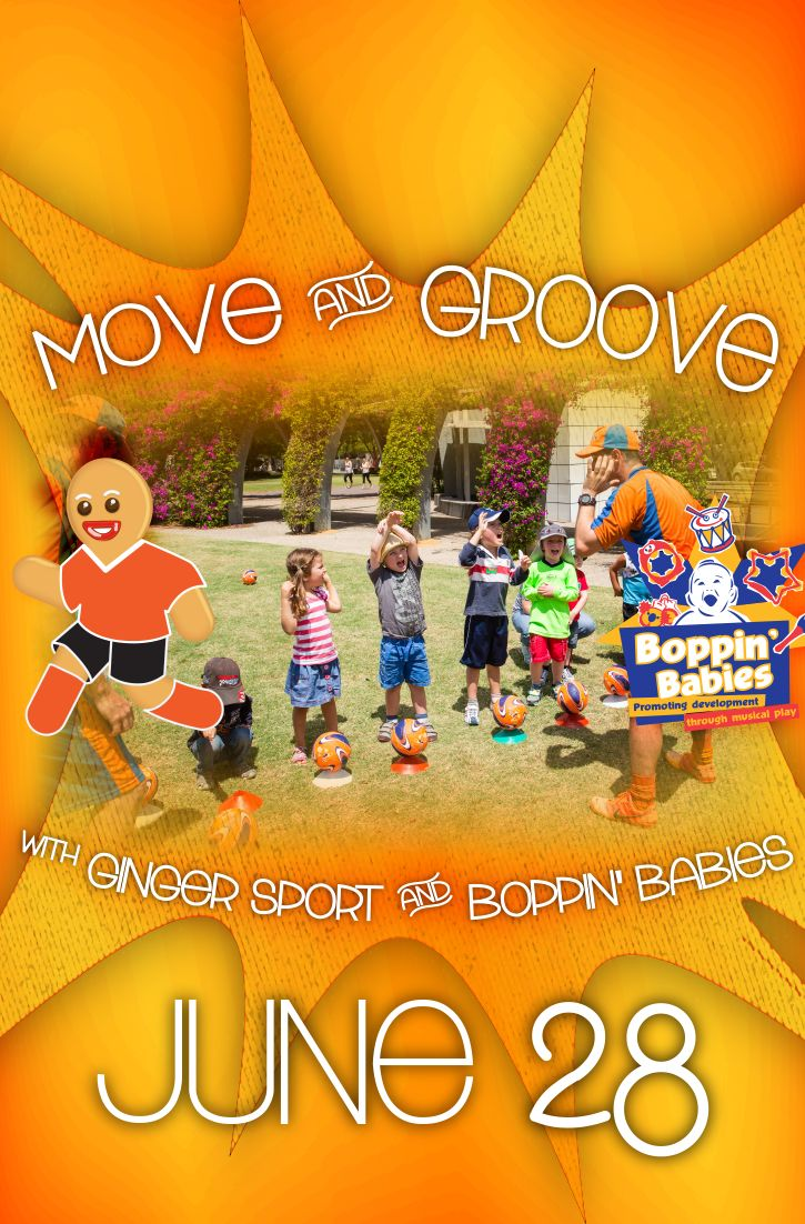 Move & groove with Ginger Sport and Boppin Babies, June 28!