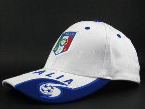 Italian Soccer Team Soccer Fashion Cap White [E827]