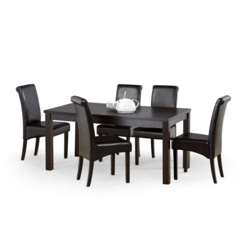 Modern, elegáns sötét színű étkező