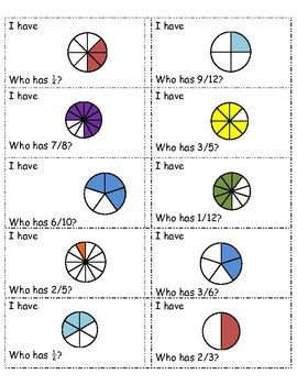 My fraction game! I have, who has?