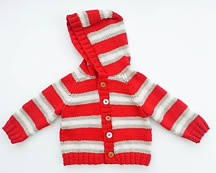 KNITTING PATTERN, Striped Raglan Sweater, Cardigan, Optional Hood , 6 Sizes, , Baby, Toddler, Kids Sizes, Boys Striped Jumper by heaventoseven on Etsy