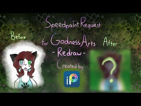 Speedpaint Request - For GodnessArts - Redraw - YouTube