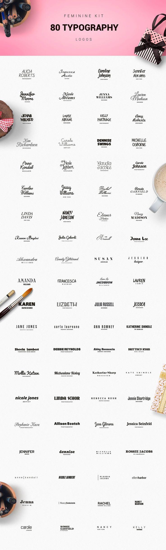 Feminine Logo Creator by DesignDistrict on @creativemarket