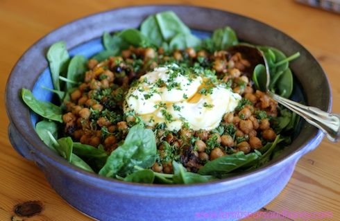 A refreshingly different way to serve chick peas in this Moroccan flavoured salad.