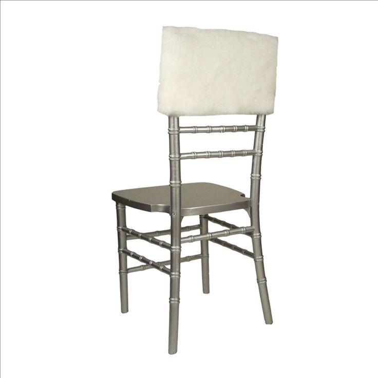 White Fur Tiffany Chair Cap