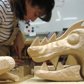 dragon carving workshop