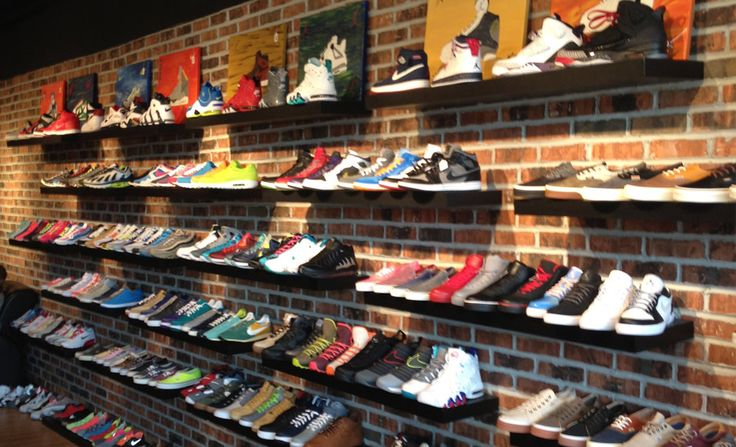 1000+ images about Shoe Wall Ideas on Pinterest : Shoe shelves, Shoe display and Weathered wood