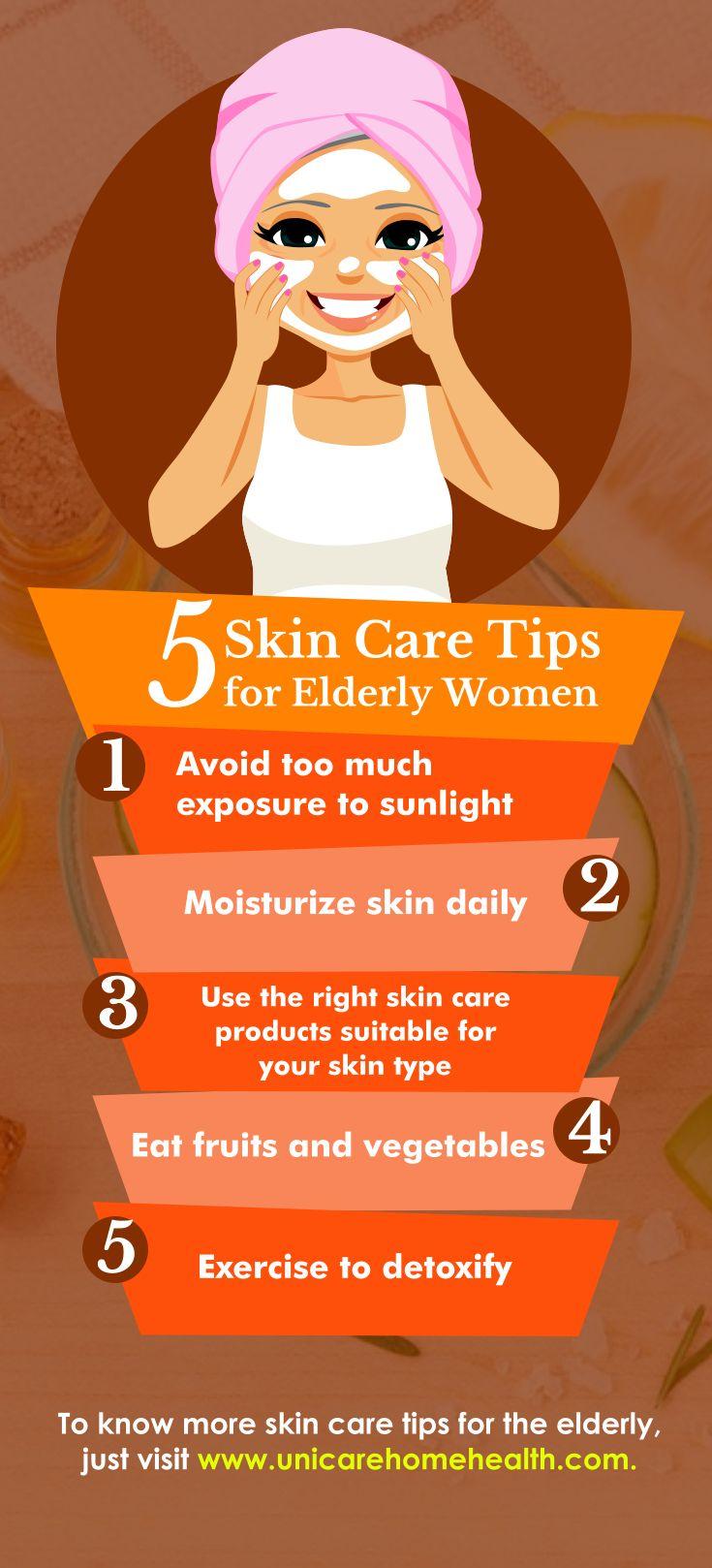 5 Skin Care Tips For Elderly Women Skin Care Tips Eat Fruit Health