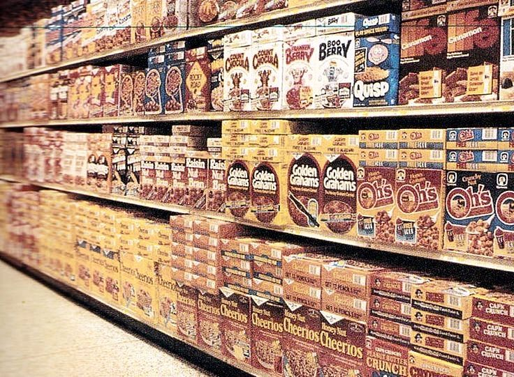 1970 S 80 S Grocery Store Shopping Cereal Aisle 1980s Food