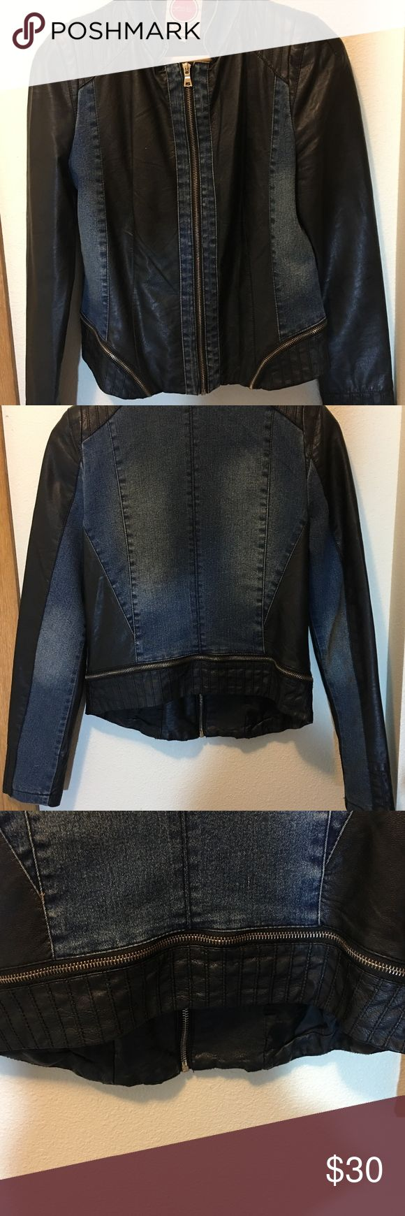 Hello Kiss! Jean Jacket Beautiful Jacket, lightly worn. Bought in Germany! In excellent used condition. Long sleeve/size Large Hello Kiss! Jackets & Coats Jean Jackets