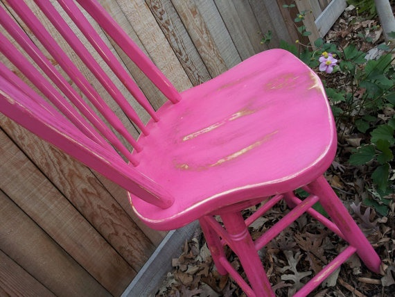 Ooak Bright Pink Boho Distressed Shabby Chic Cottage Tall