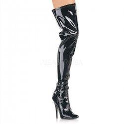 Cuissardes DEVIOUS noires en imitation cuir DOM3000-B Boutique Chaussures Mode
