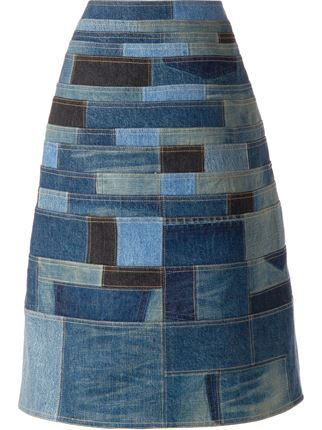 Junya Watanabe Comme Des Garçons джинсовая лоскутная юбка