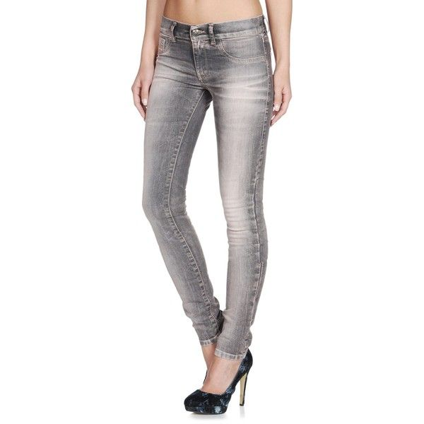 DIESEL Livier 0602w Jegging (400 BRL) ❤ liked on Polyvore featuring pants, leggings, denim, jegging, paloma, women, stretchy pants, colorful jeggings, colorful leggings and stretch denim leggings