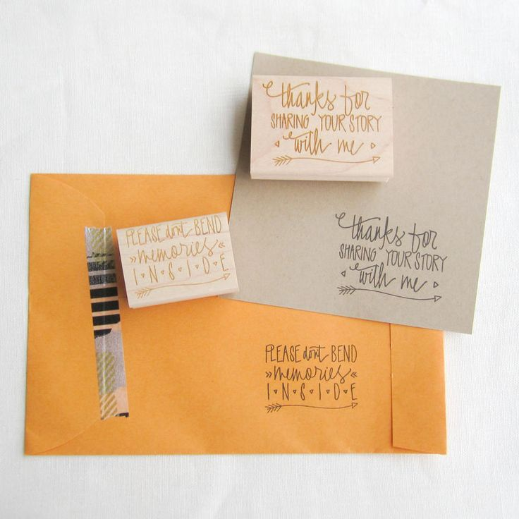 Paper Sushi's hand lettered stamp set for Photographers