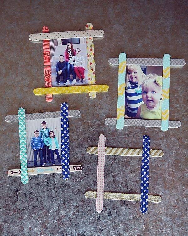 Lolly stick photo frames