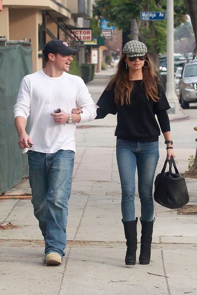 Nick Lachey and Vanessa Minnillo Have Lunch in Sherman Oaks